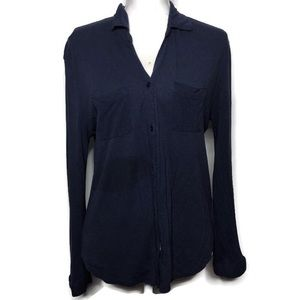 Staring at Stars Navy stretchy Buttoned shirt S